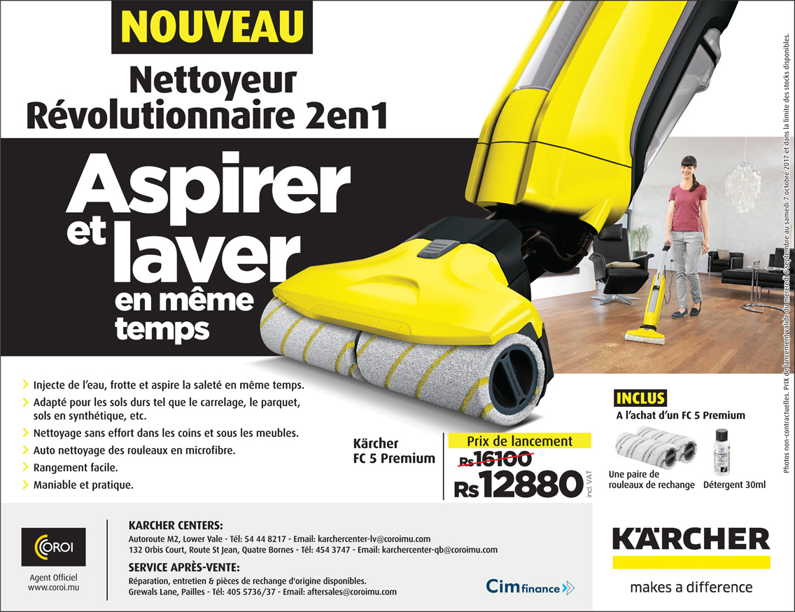 nettoyeur de sols revolutionnaire fc5 de karcher coroi. Black Bedroom Furniture Sets. Home Design Ideas