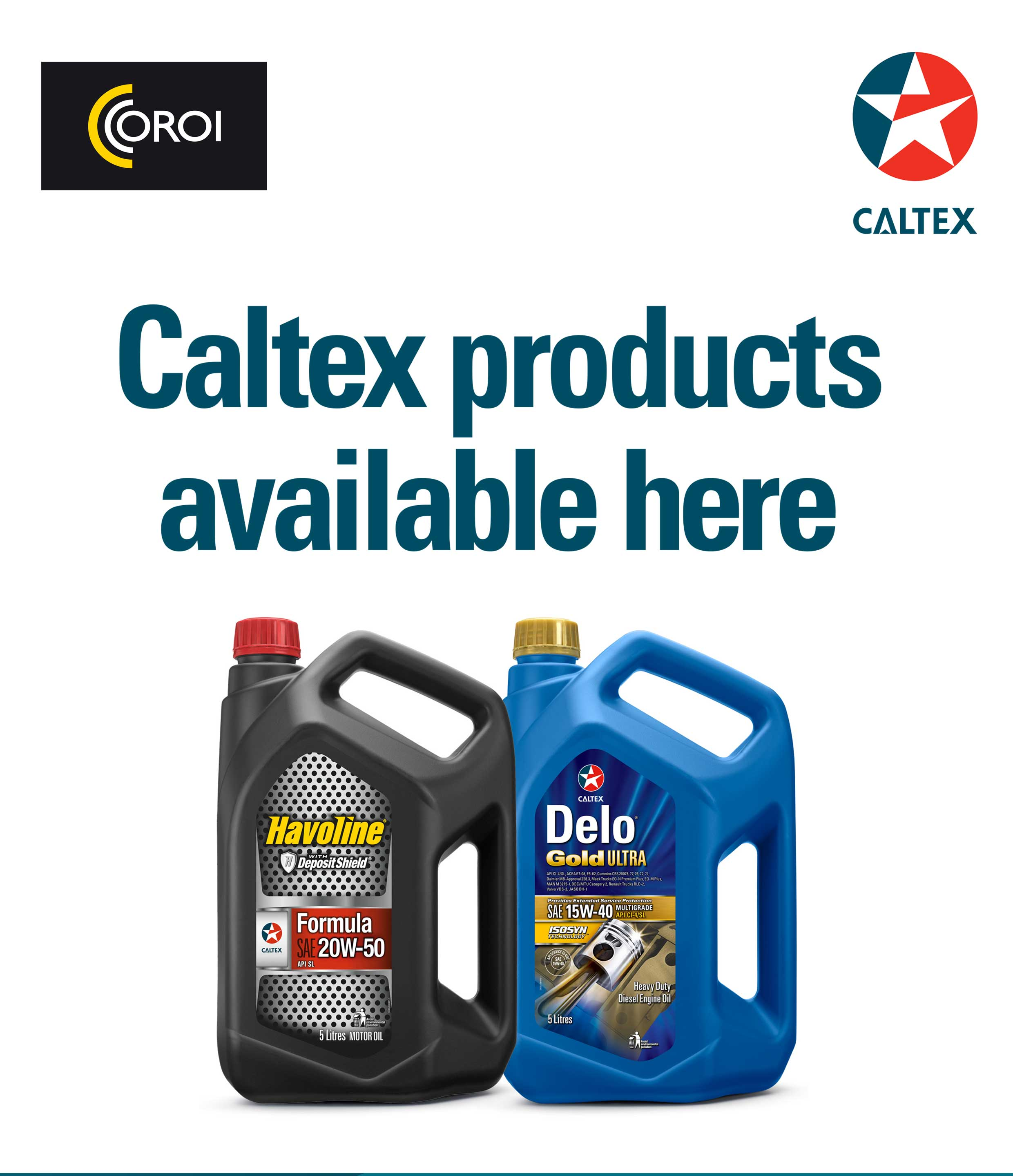 Caltex is back to mauritius with lubricants delo and for Gardening tools mauritius