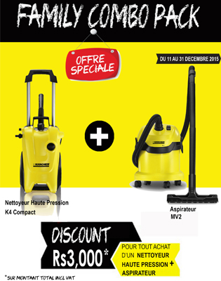 karcher eoy promo 2015 combo pack discount coroi. Black Bedroom Furniture Sets. Home Design Ideas